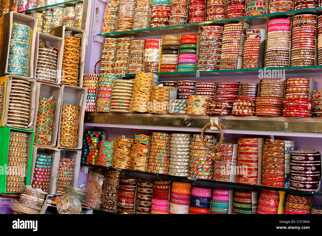 Indian bangles - Stock Image