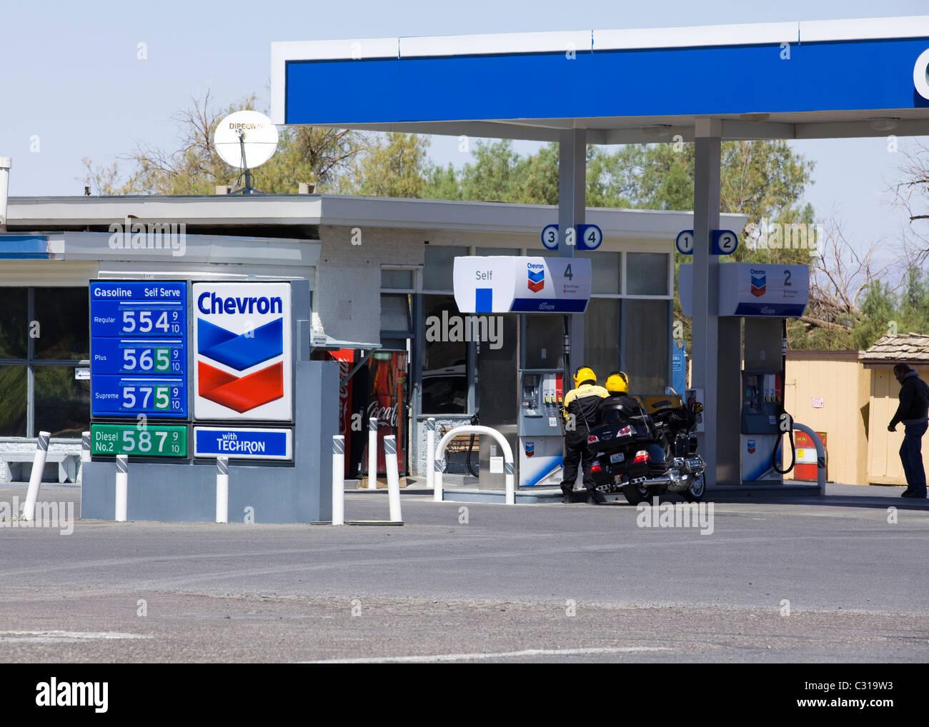 High petrol price sign, California, USA - Stock Image