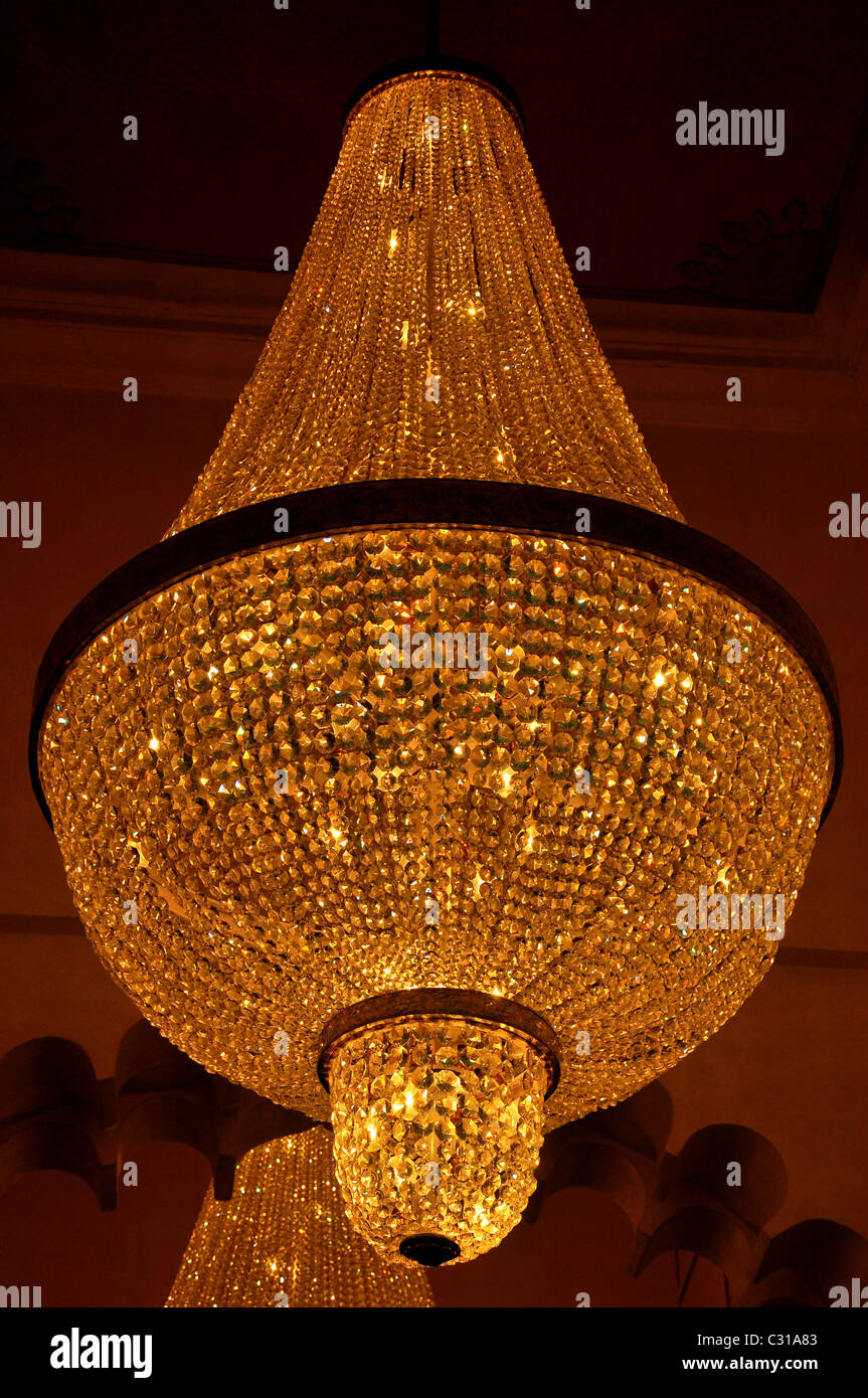 Chandelier at Royal Palace, Udaipur, India Stock Photo