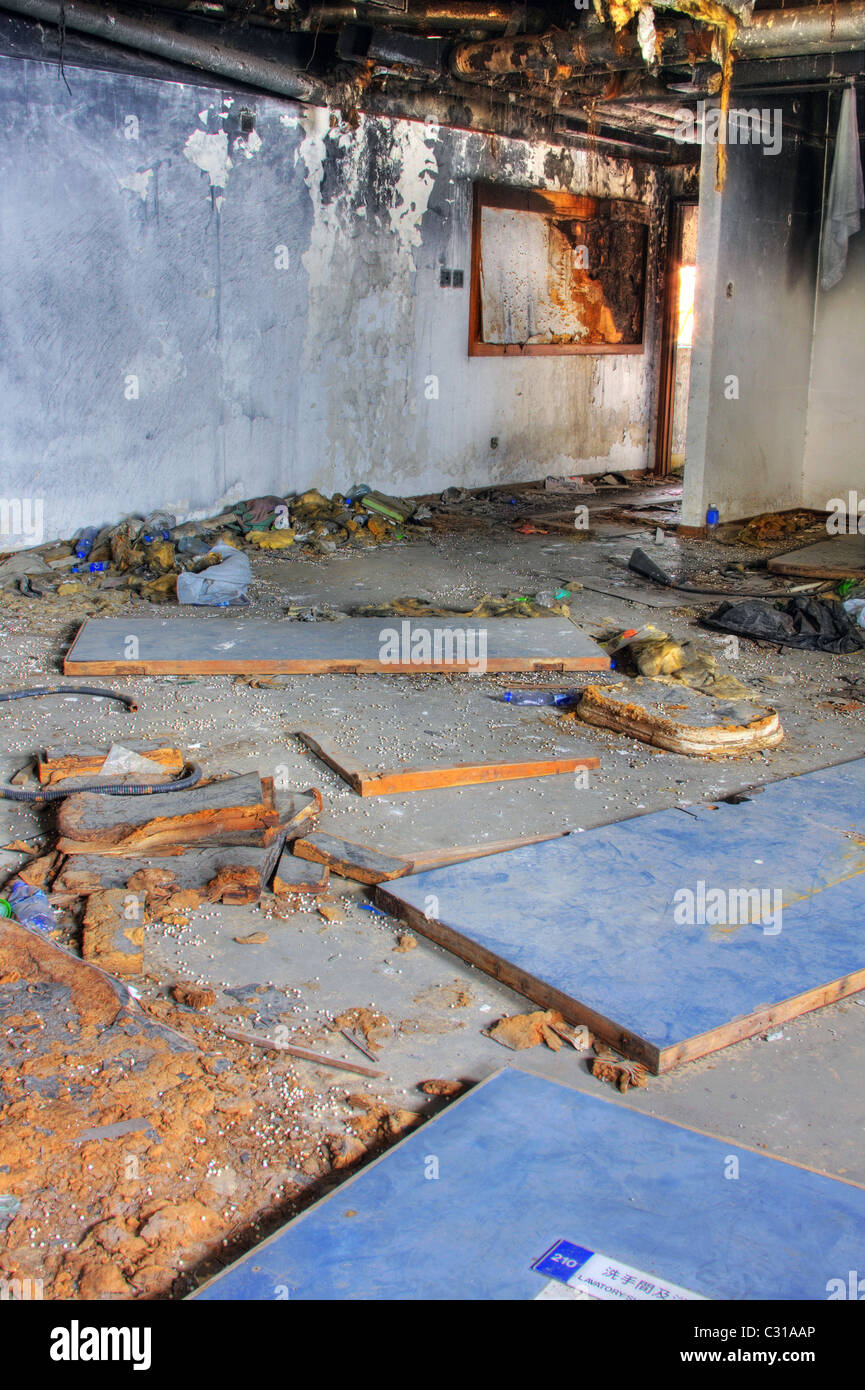 Prime Discarded Building One Room After Fire Stock Photo Download Free Architecture Designs Scobabritishbridgeorg
