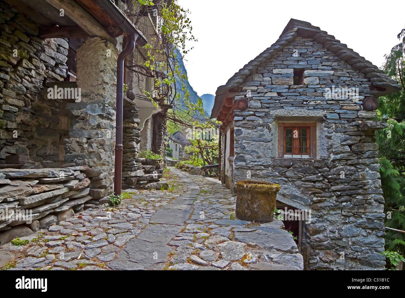 Valle Bavona - Ticino Stock Photo