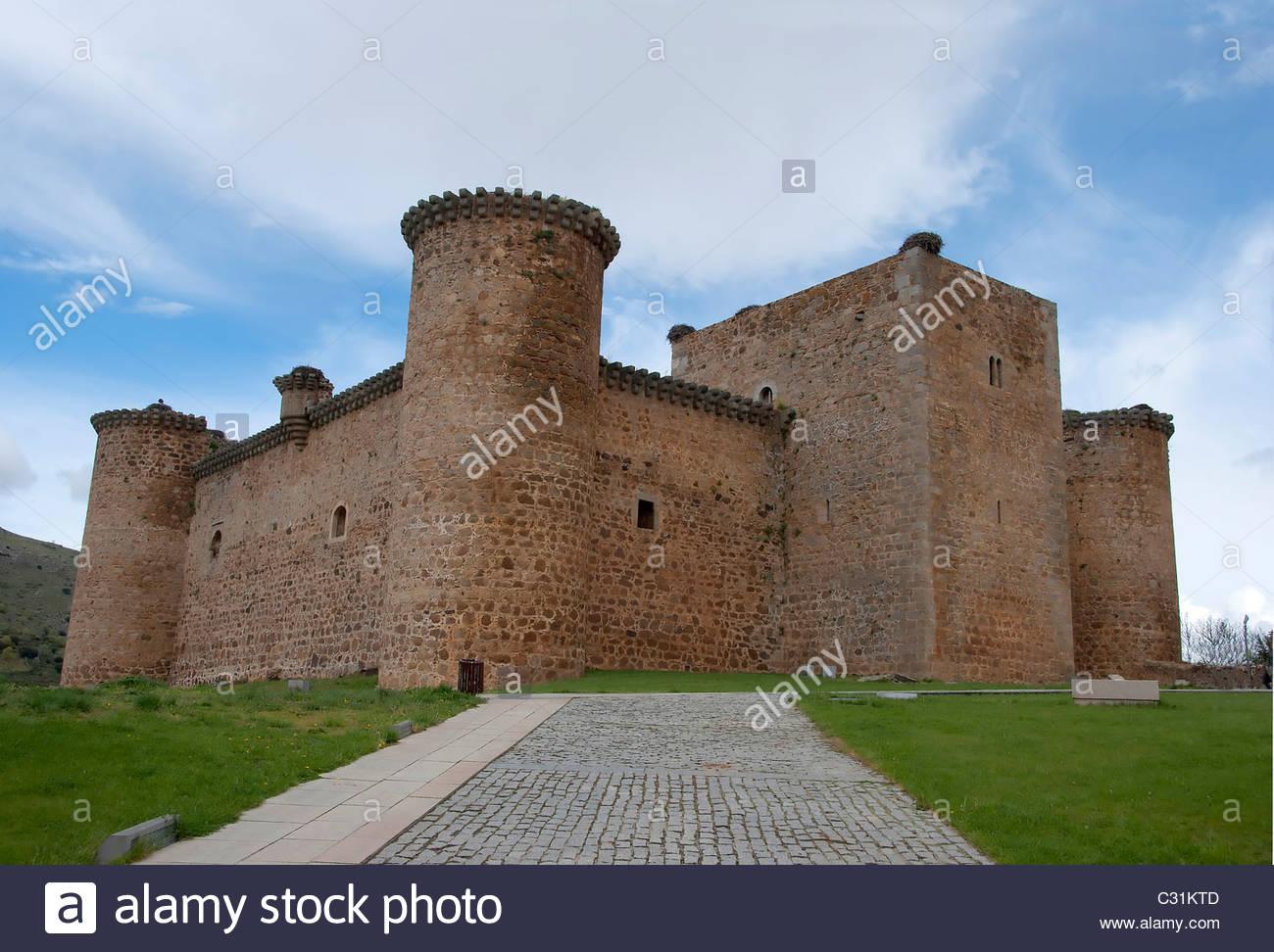 Castle of Valdecorneja. Barco de Avila, Avila. Spain. Stock Photo