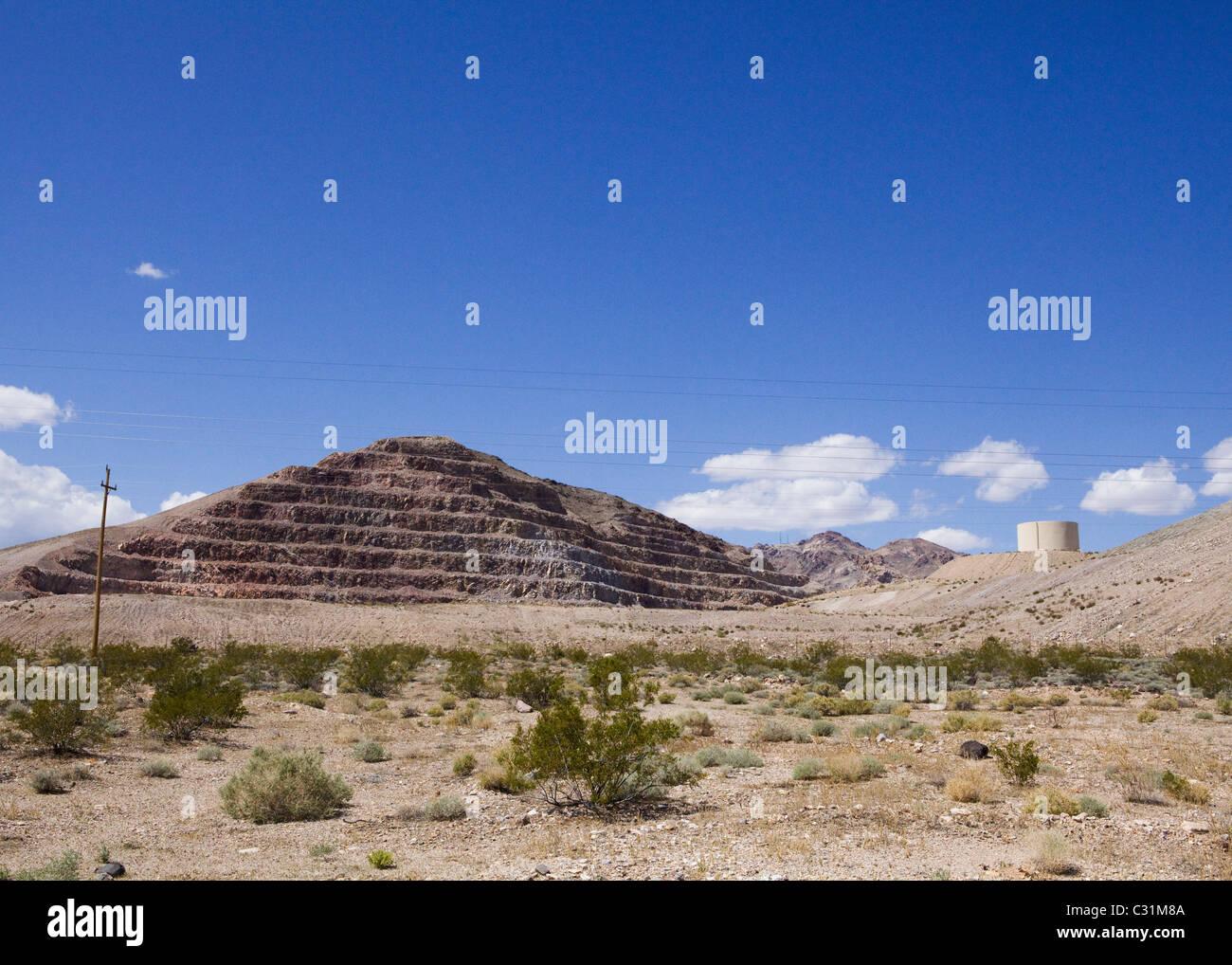 Surface mining landscape - Stock Image