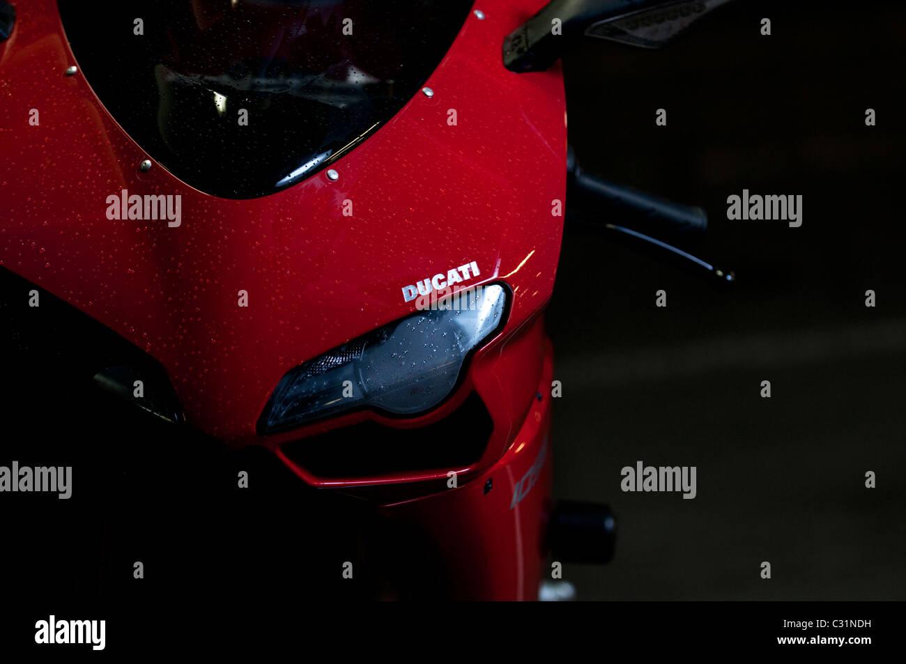 Ducati 1098s headlight close up - Stock Image