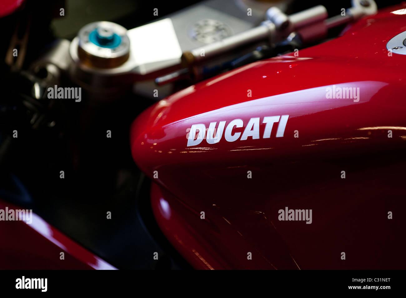 Ducati 1098s tank close up - Stock Image