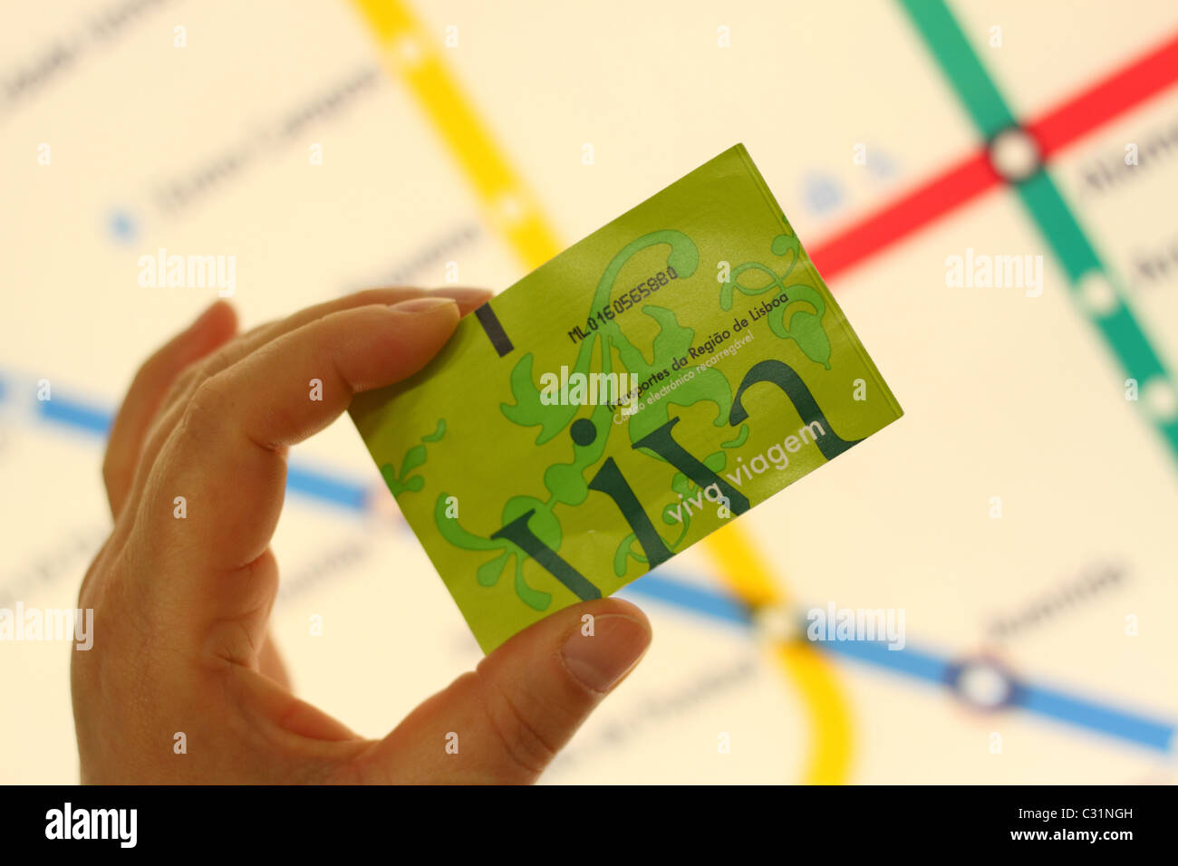 Metro Map Lisbon Portugal.Lisbon Portugal A Viva Viagem Public Transport Prepaid Card Ticket