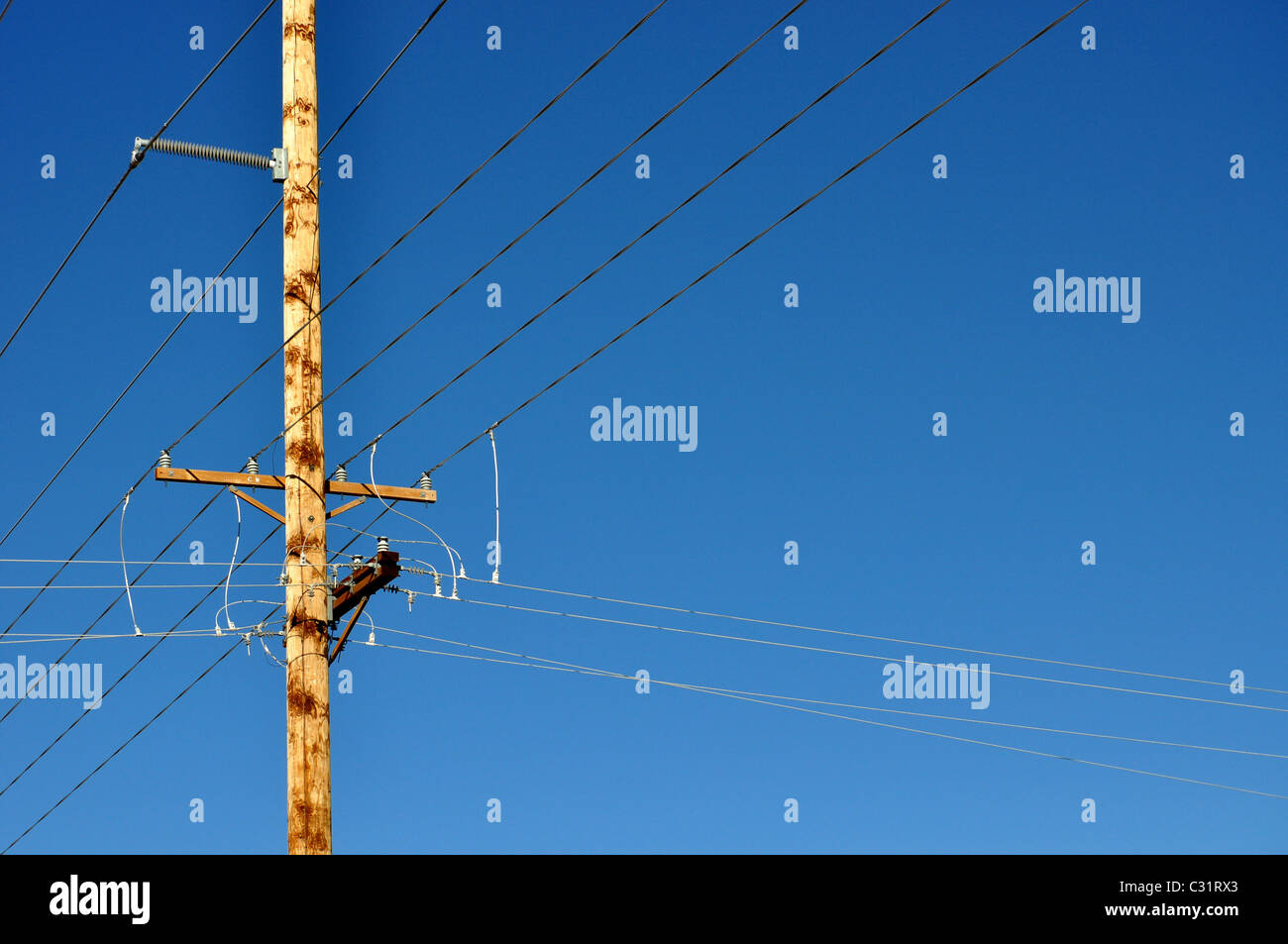 electric pole - Stock Image