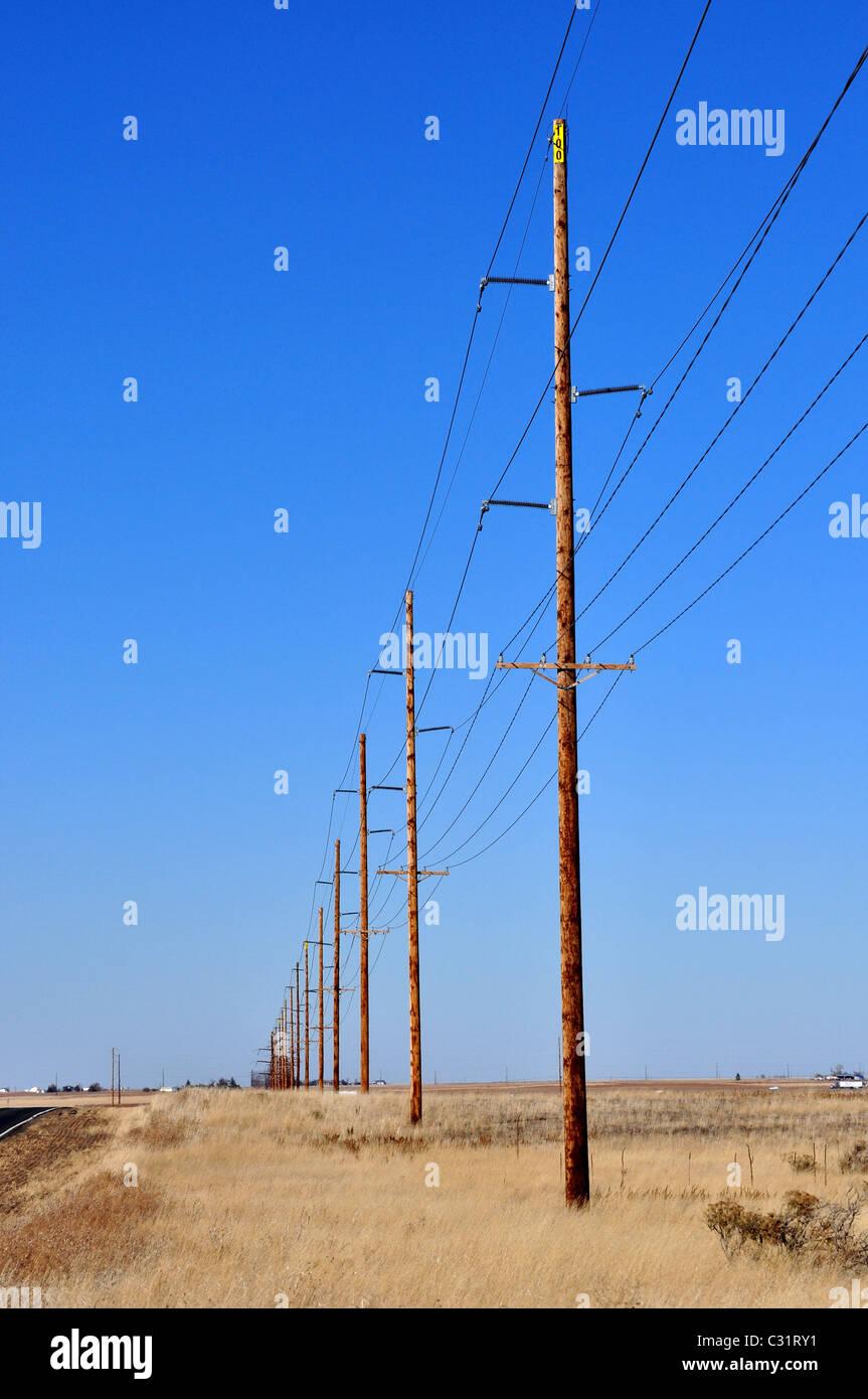 electric pole - Stock Image