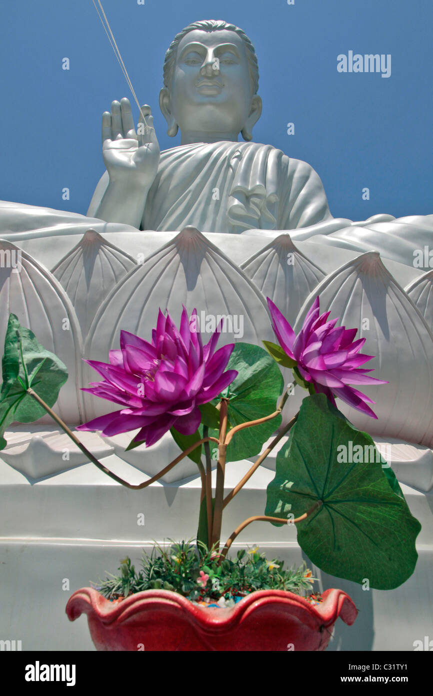 Buddha Sitting On A Lotus Flower Buddhist Temple Of Wat Kaew Pra