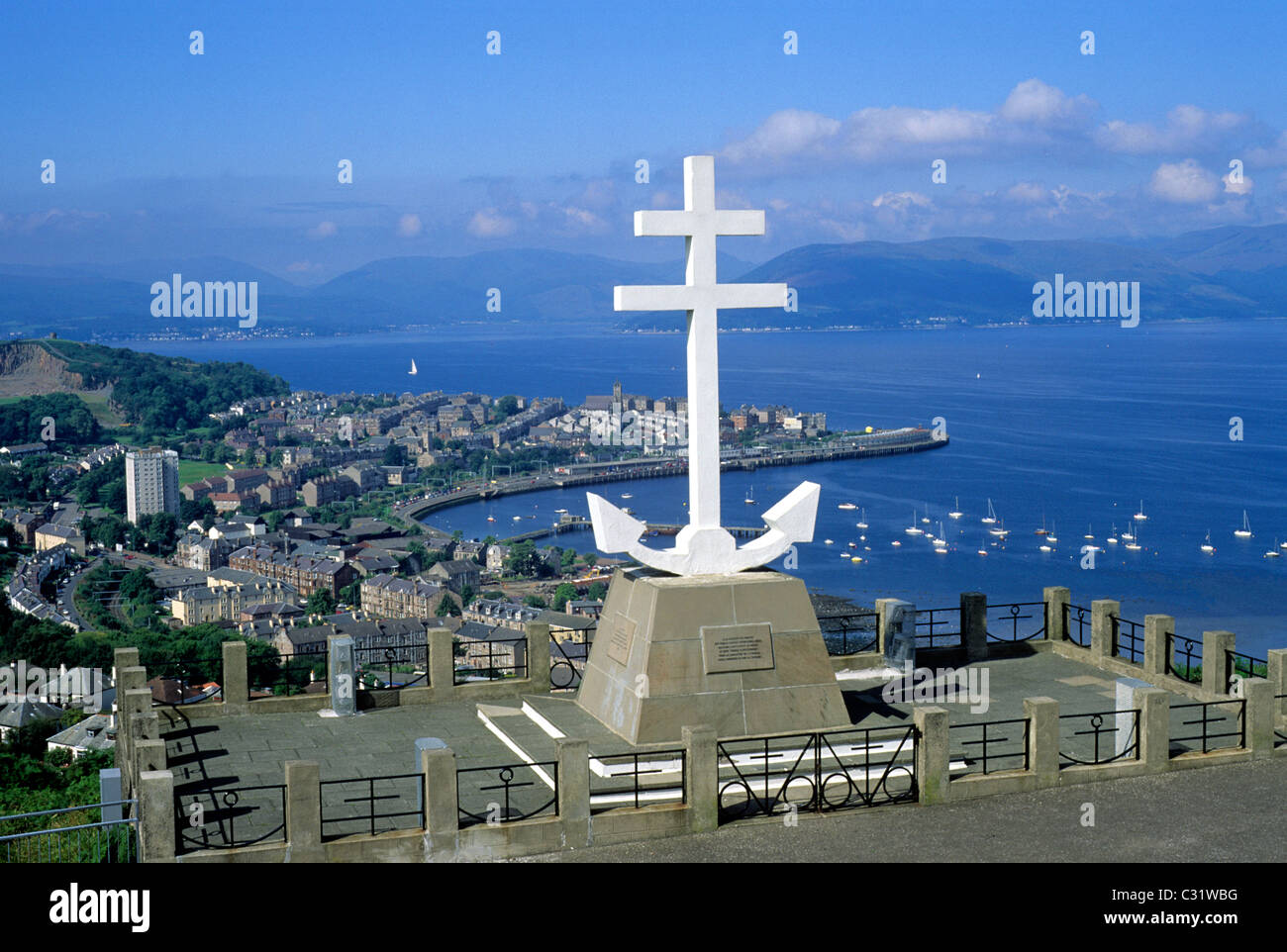 Gourock, Free French Memorial, Firth of Clyde, Clydeside Region, Scotland Scottish memorials UK - Stock Image