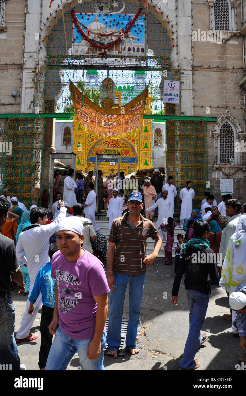 CHISHTY SHRINE AJMER SHARIF- Outside view of Dargah in Ajmer, Rajasthan, India - Stock Image