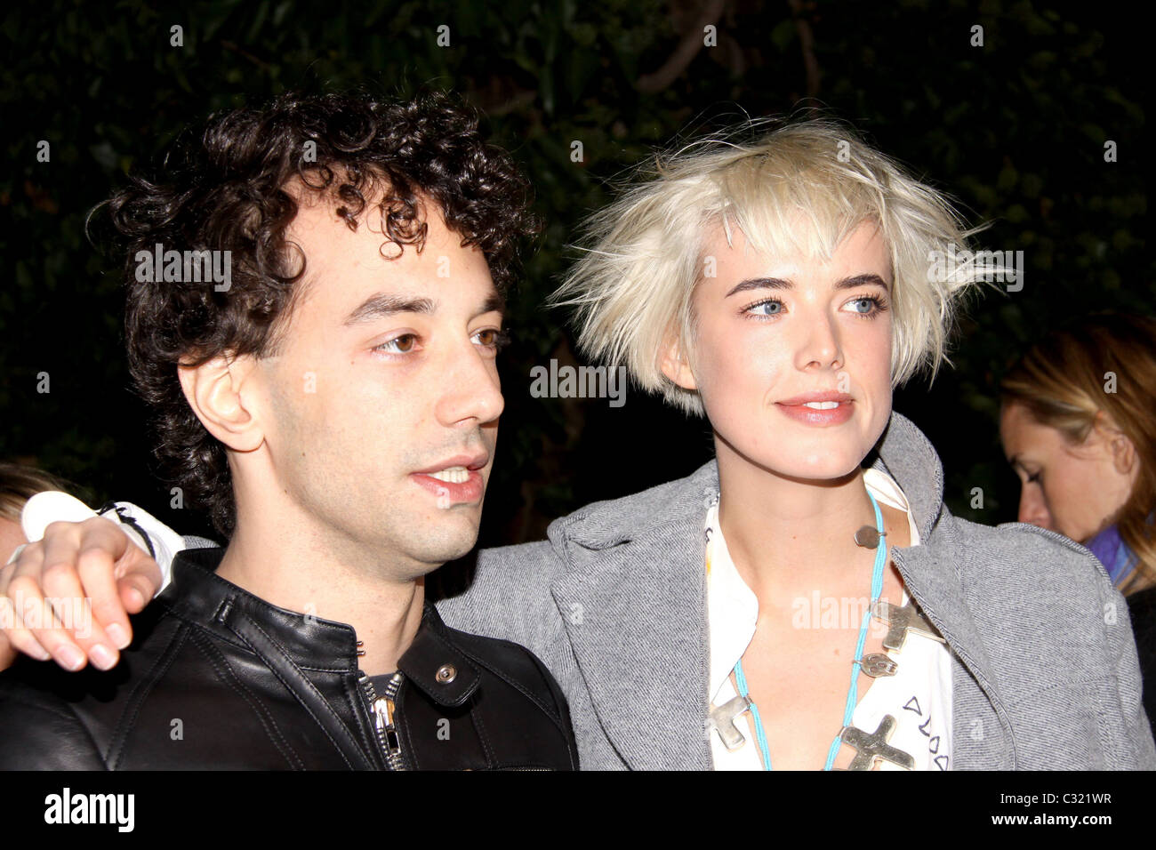 Albert Hammond Jr And Agyness Deyn Opening Party For Mobile Art Chanel Contemporary Art Container In Central Park Arrivals Stock Photo Alamy