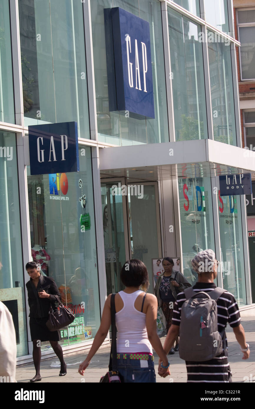 oxford street gap store - Stock Image