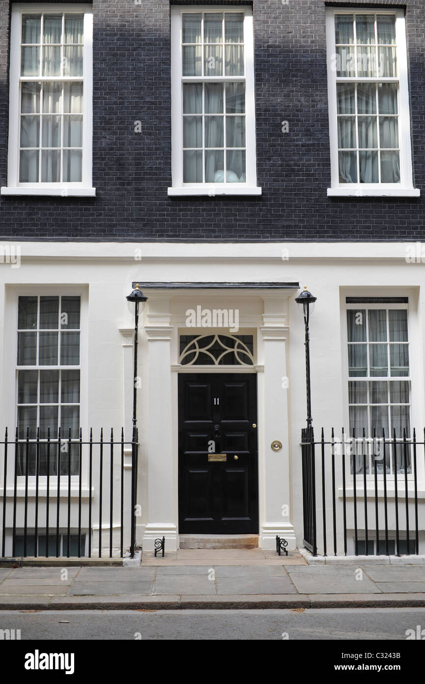 Number 11 Downing Street, London, 20th April 2009. - Stock Image