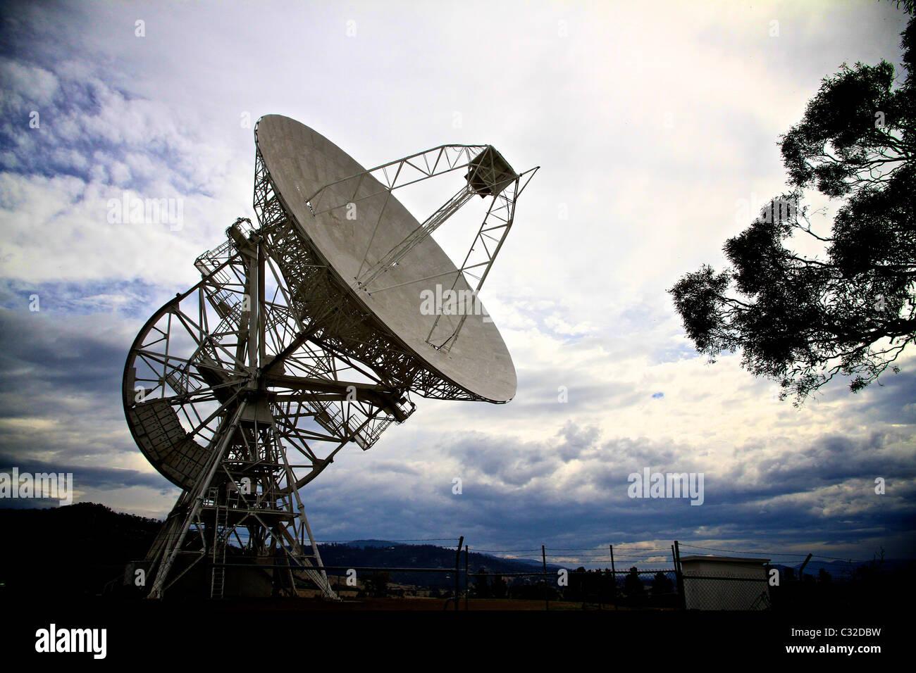 Mount Pleasant Radio Observatory, Tasmania - Stock Image