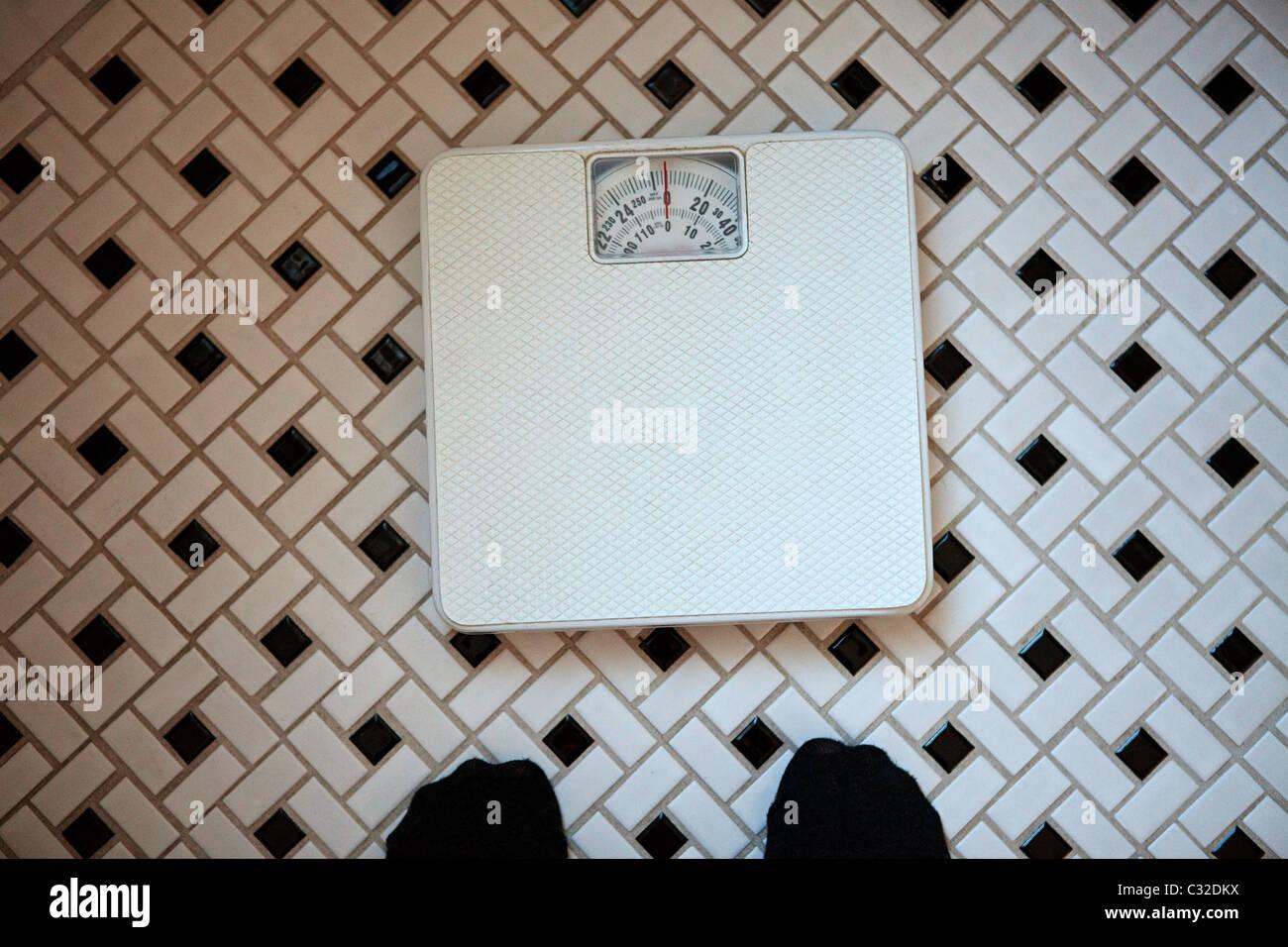 bathroom scales above stock photos bathroom scales above stock rh alamy com