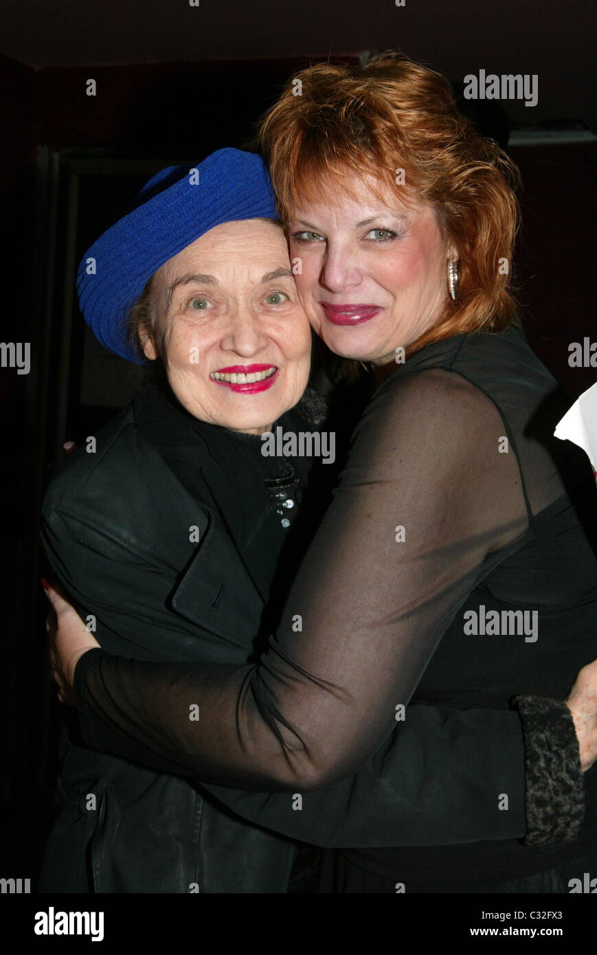 Julie Wilson and Devlin at opening night of 'Devlin The Places You Find Love' at Don't Tell Mama Cabaret New York Stock Photo