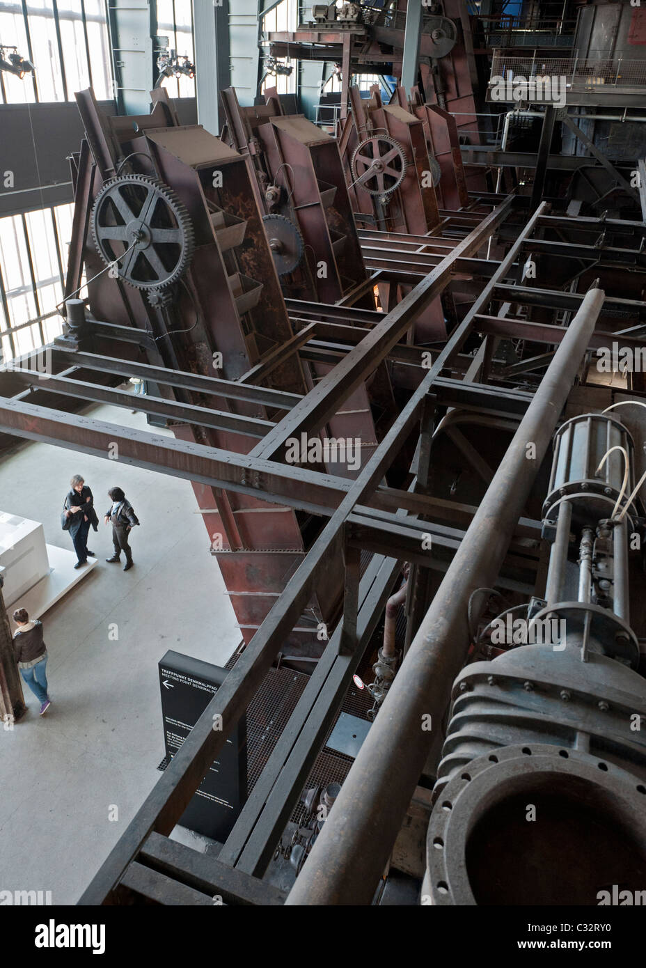Interior of former coal mine at Zollverein in Essen Germany now UNESCO World Heritage Site - Stock Image