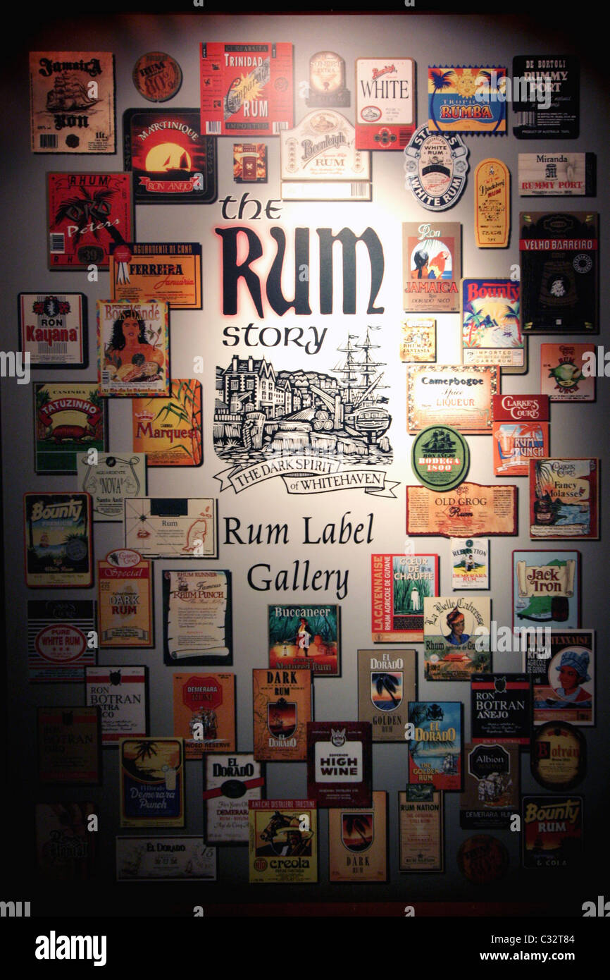 The Rum Story in Whitehaven Cumbria - Stock Image