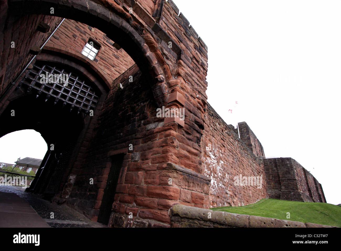 Carlisle Castle medieval fortress in Cumbria - Stock Image