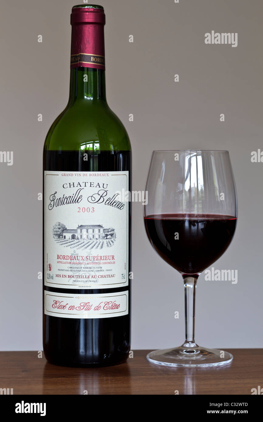 Bottle Of French Bordeaux Wine Chateau Fontcaille