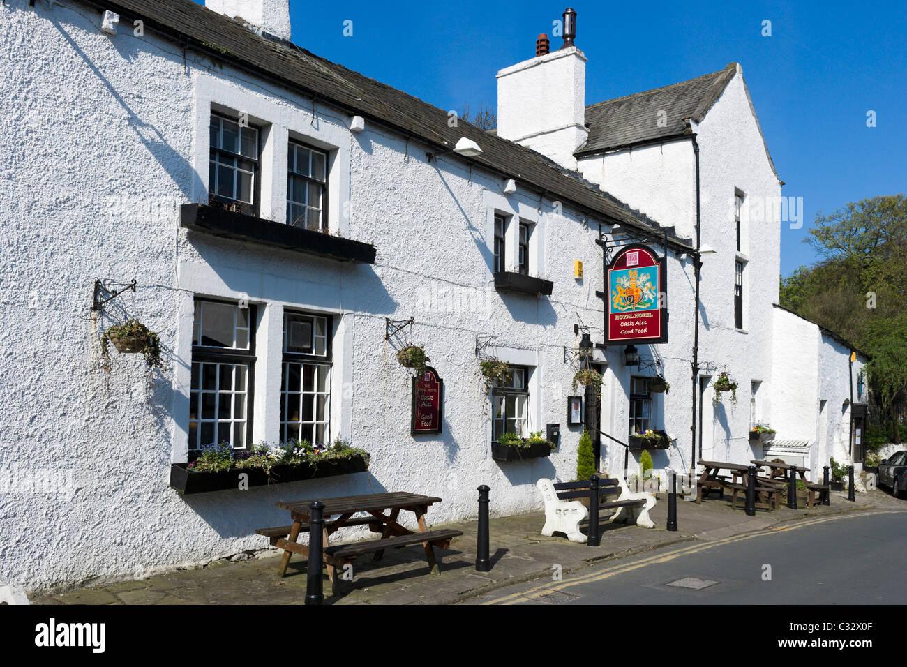 The Royal Hotel country pub and hotel in Heysham Village, near Morecambe, Lancashire, UK - Stock Image