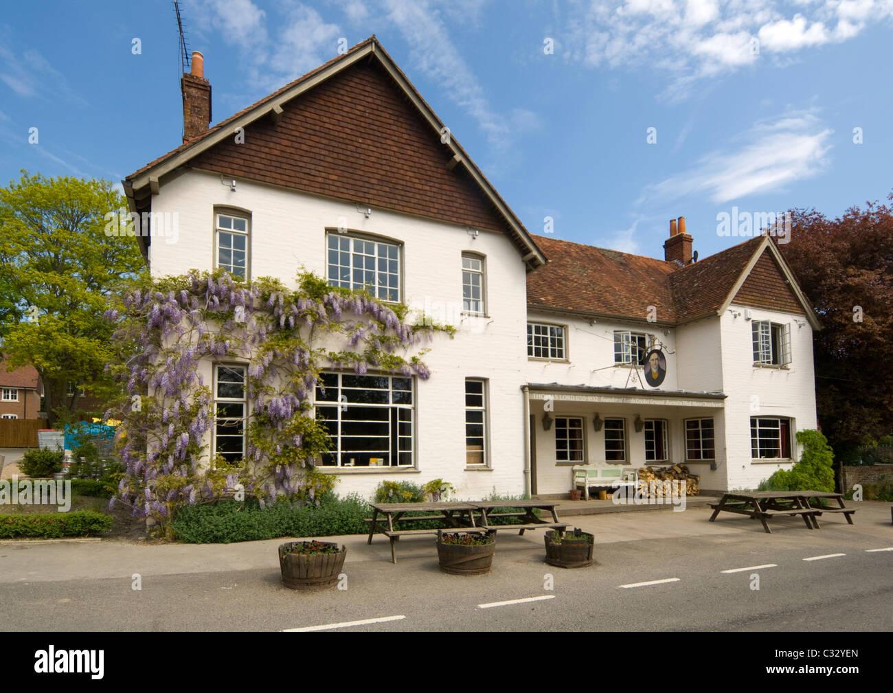 The Thomas Lord Pub West Meon Hampshire UK - Stock Image