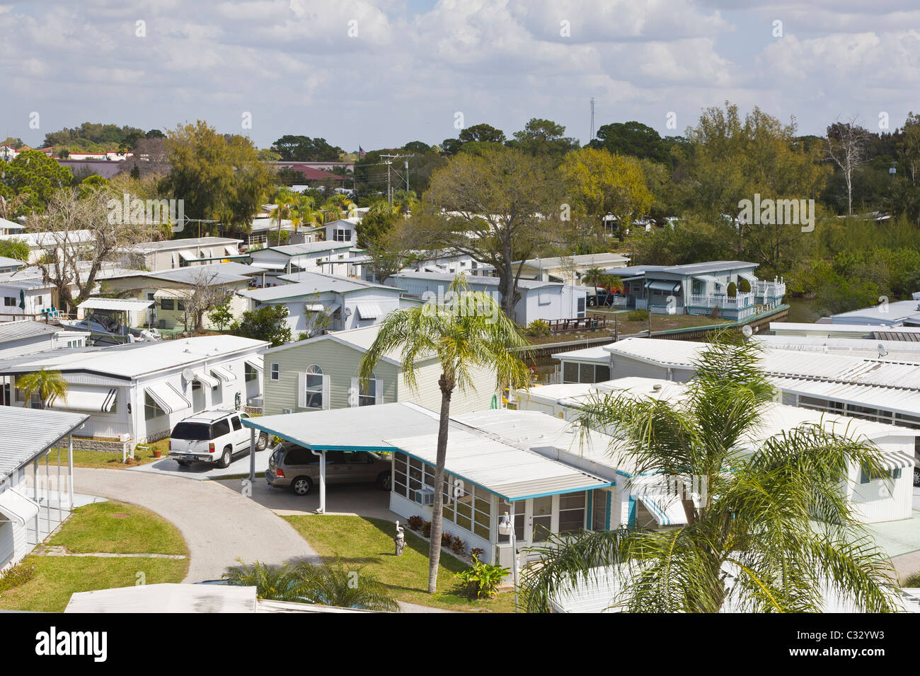 Mobile Home Park In Venice Florida Stock Photo 36330479 Alamy