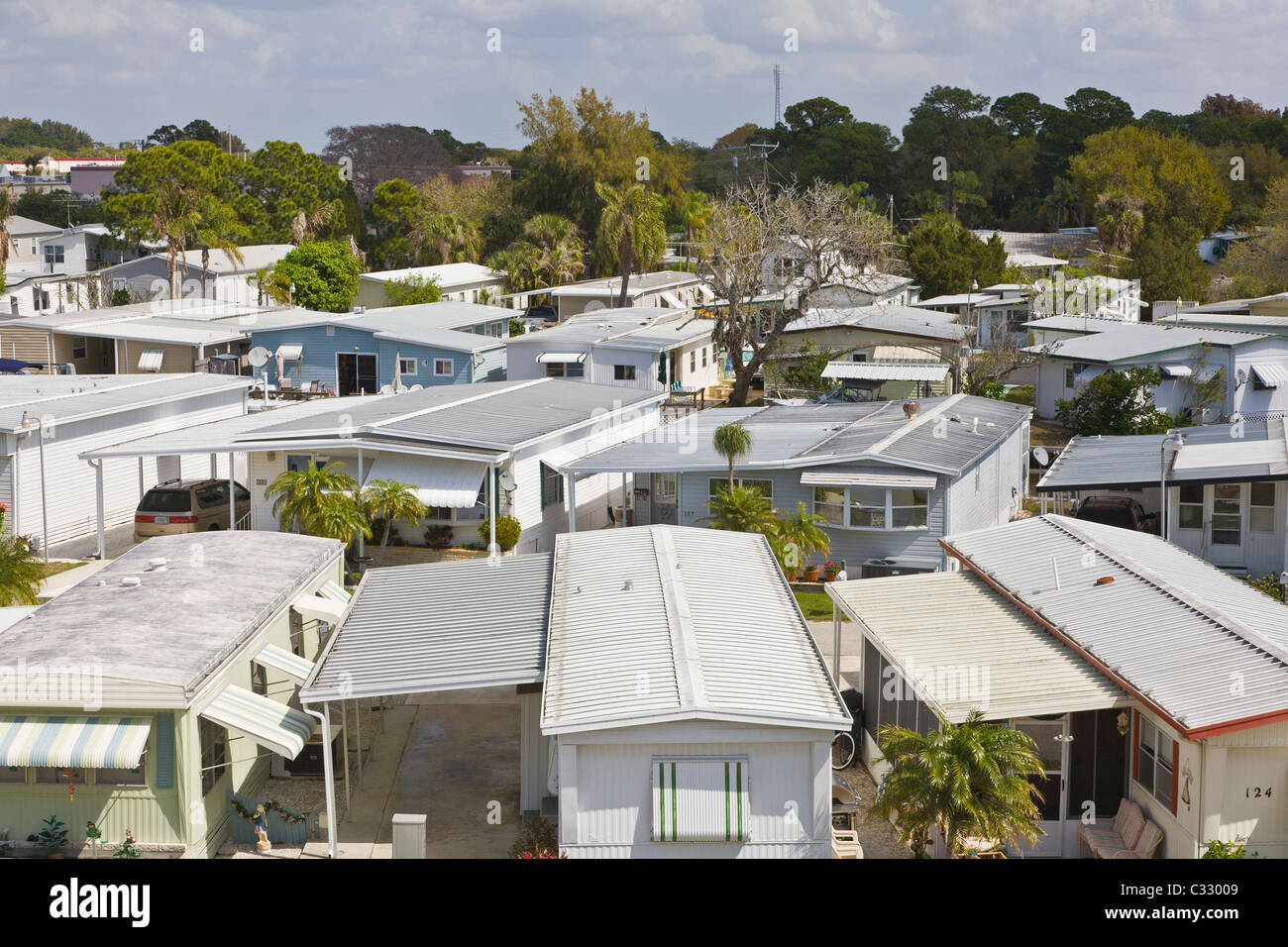 Mobile Home Park In Venice Florida Stock Photo 36330569 Alamy