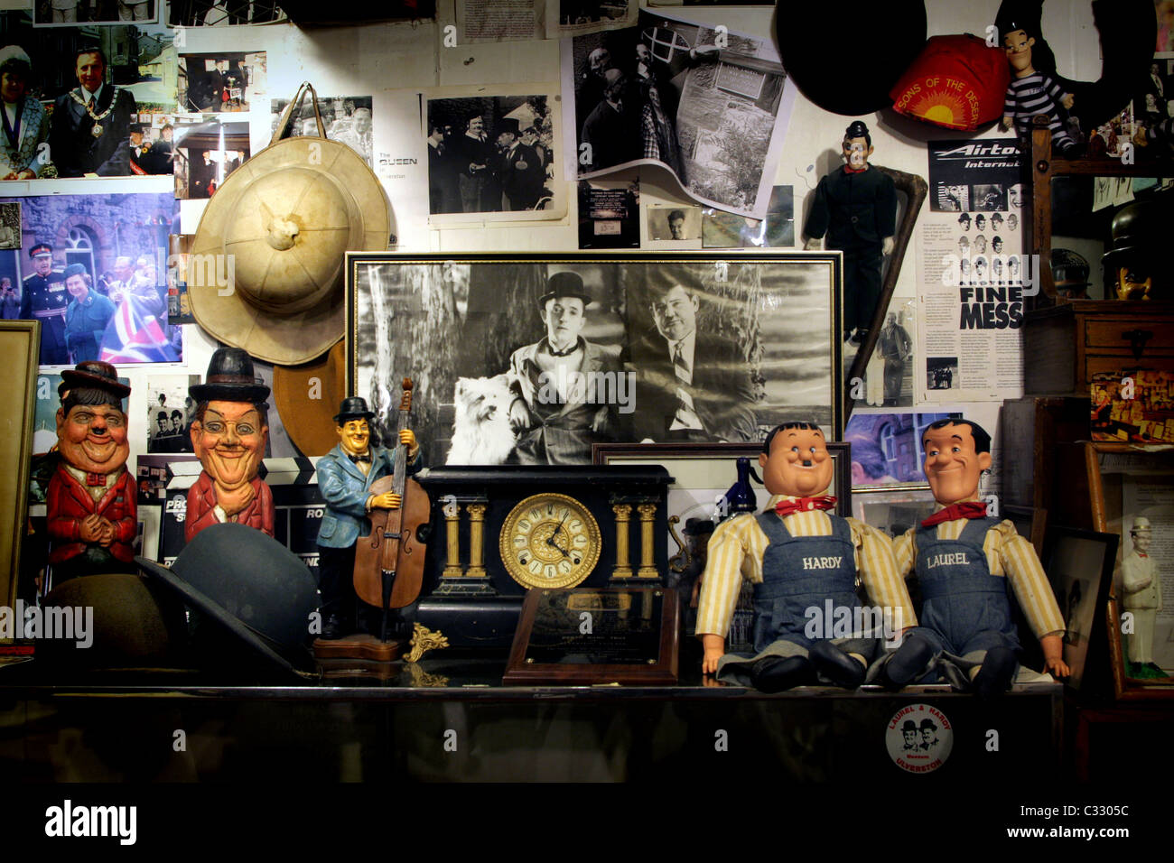 Laurel & Hardy Museum in Ulverston in the Lake District Cumbria - Stock Image