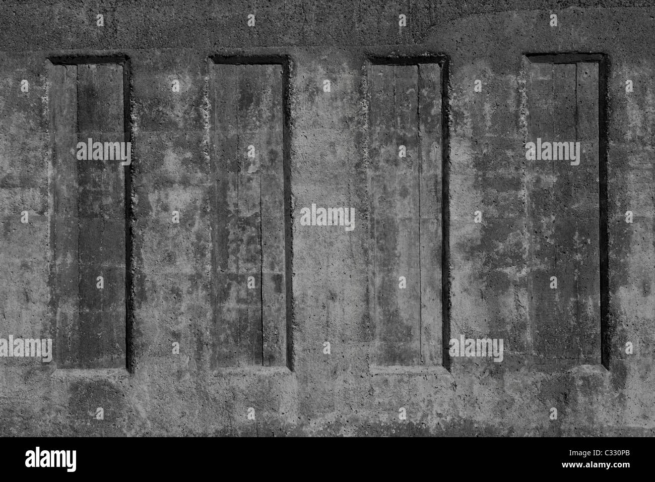 Concrete Wall - Stock Image