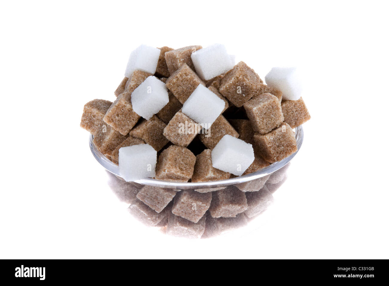 brwon sugar, carbohydrates - Stock Image
