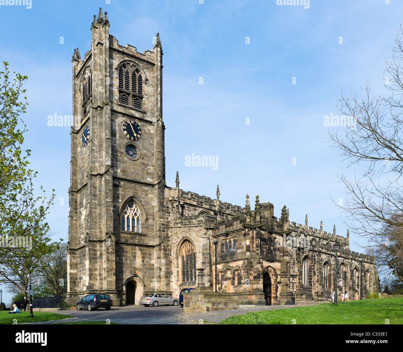 The Priory Church of St Mary next to the Castle, Lancaster, Lancashire, UK - Stock Image