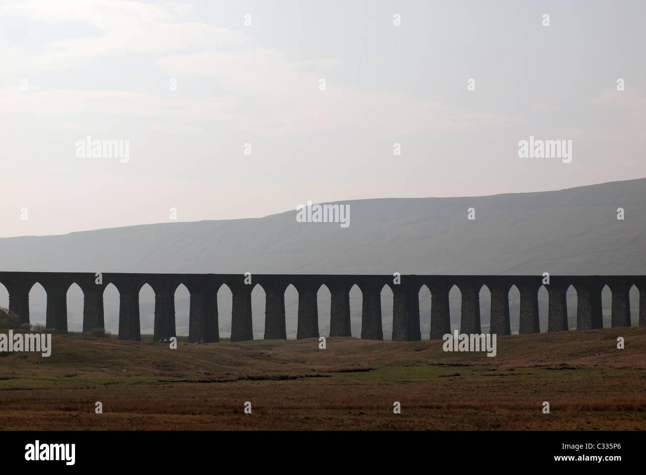 Ribblehead Viaduct Yorkshire Dales England Britain UK - Stock Image