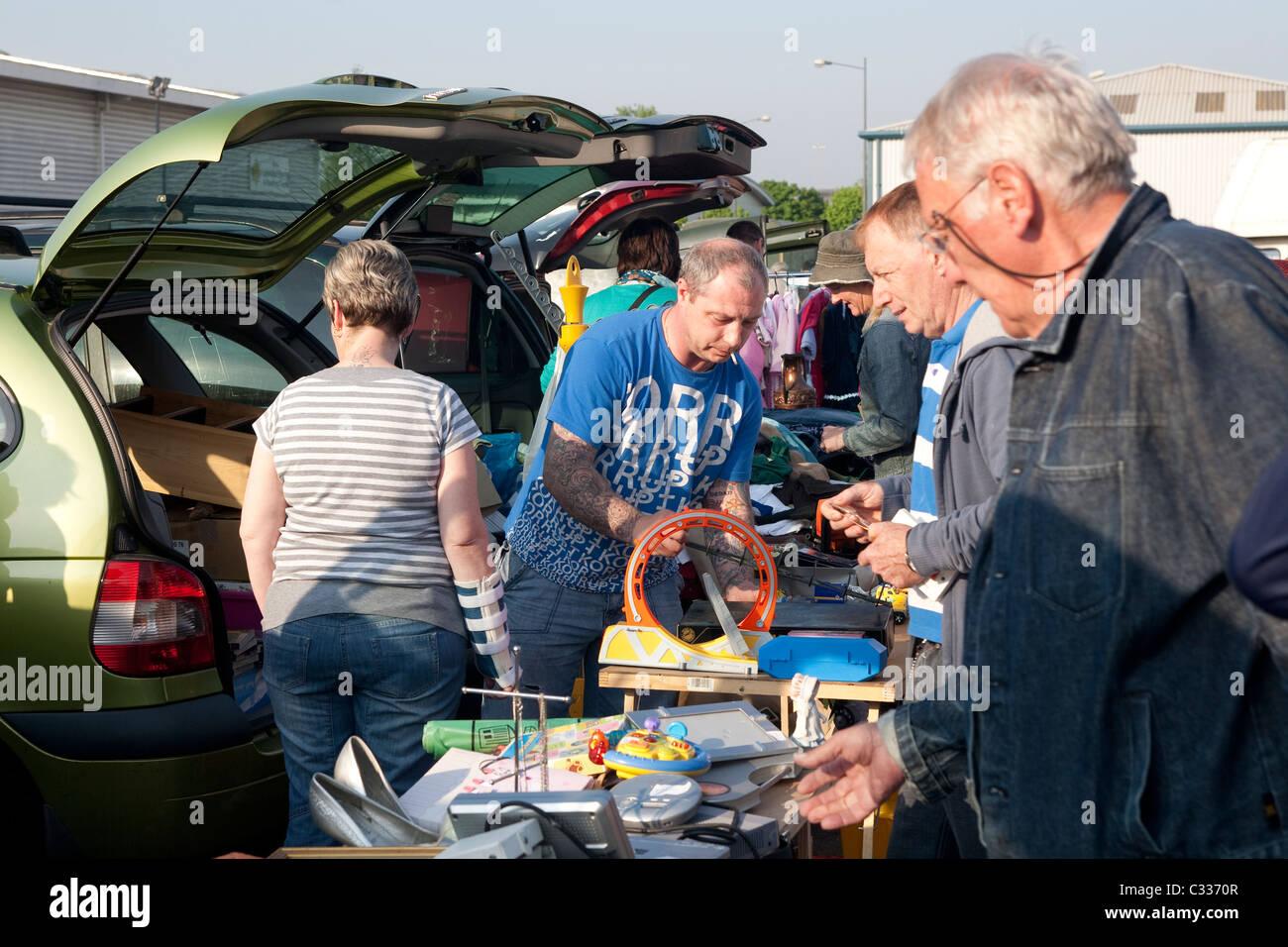 Car boot sale Cardiff, Wales. Photo:Jeff Gilbert - Stock Image