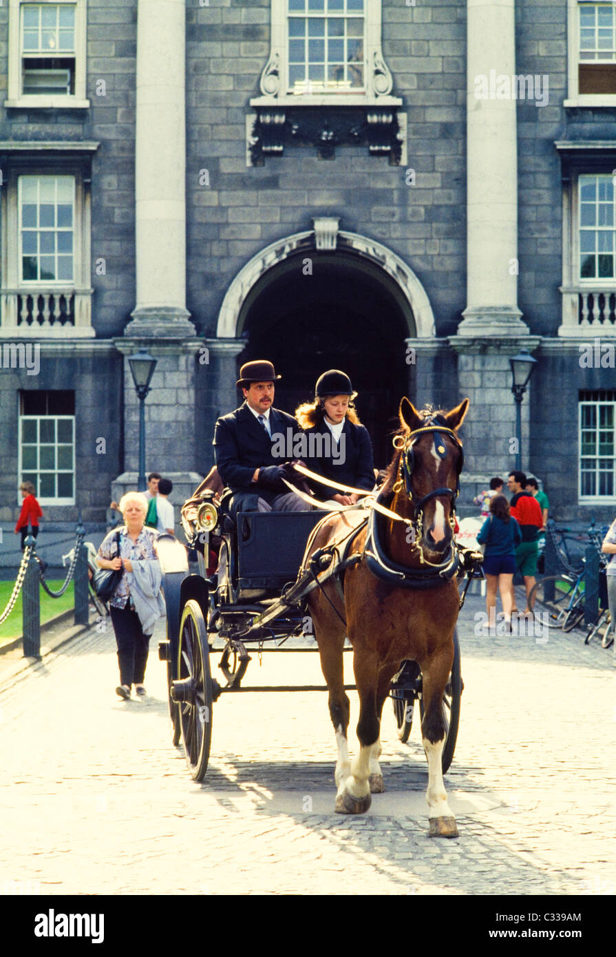 Dublin, Co Dublin, Ireland, Bloomsday At Trinity College - Stock Image
