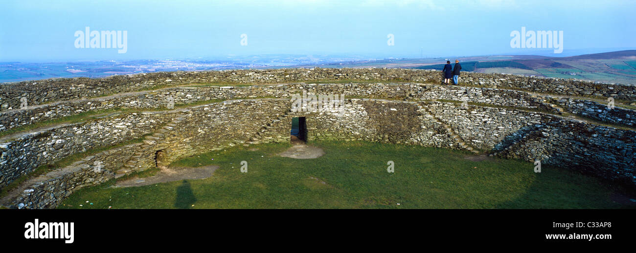 Grianan Of Ailech, Co Donegal, Ireland, Celtic Archaeology - Stock Image
