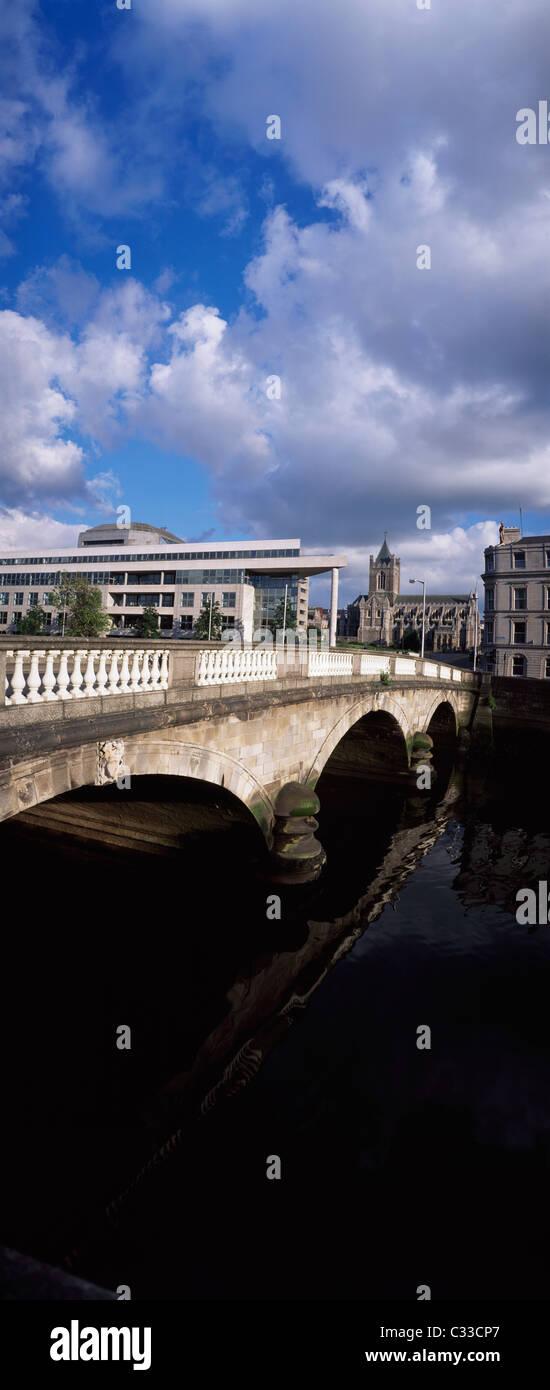Dublin,Co Dublin,Ireland;View Of Wood Quay - Stock Image