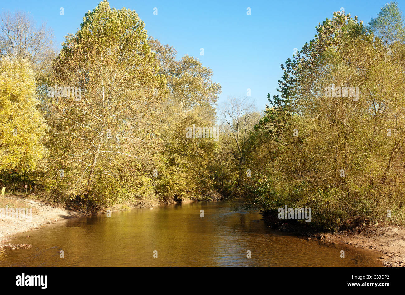 beautiful scene of missouri in autumn or fall - Stock Image