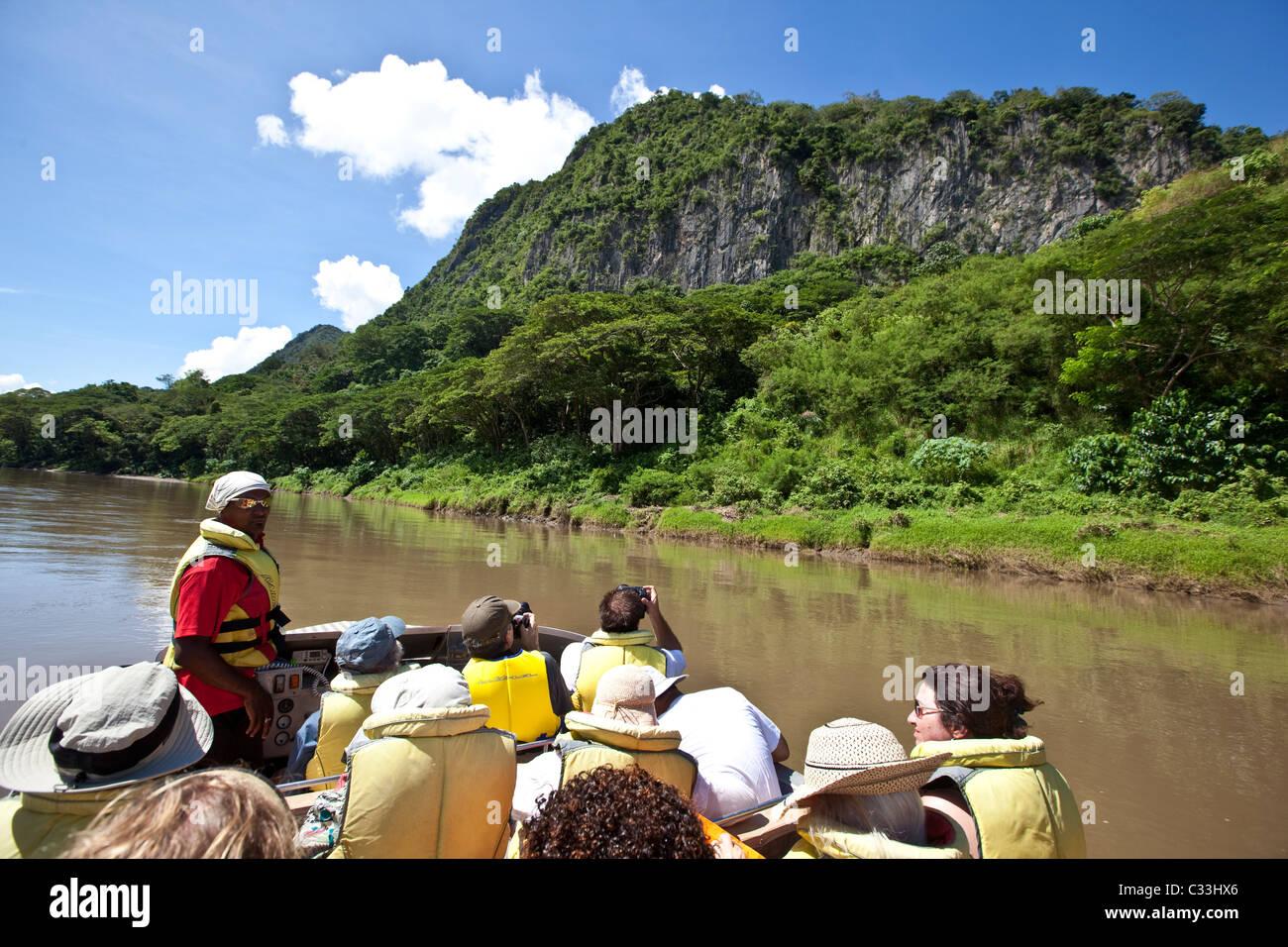 Sigatoka River Safari, jet boat tour, Viti Vevu, Fiji - Stock Image