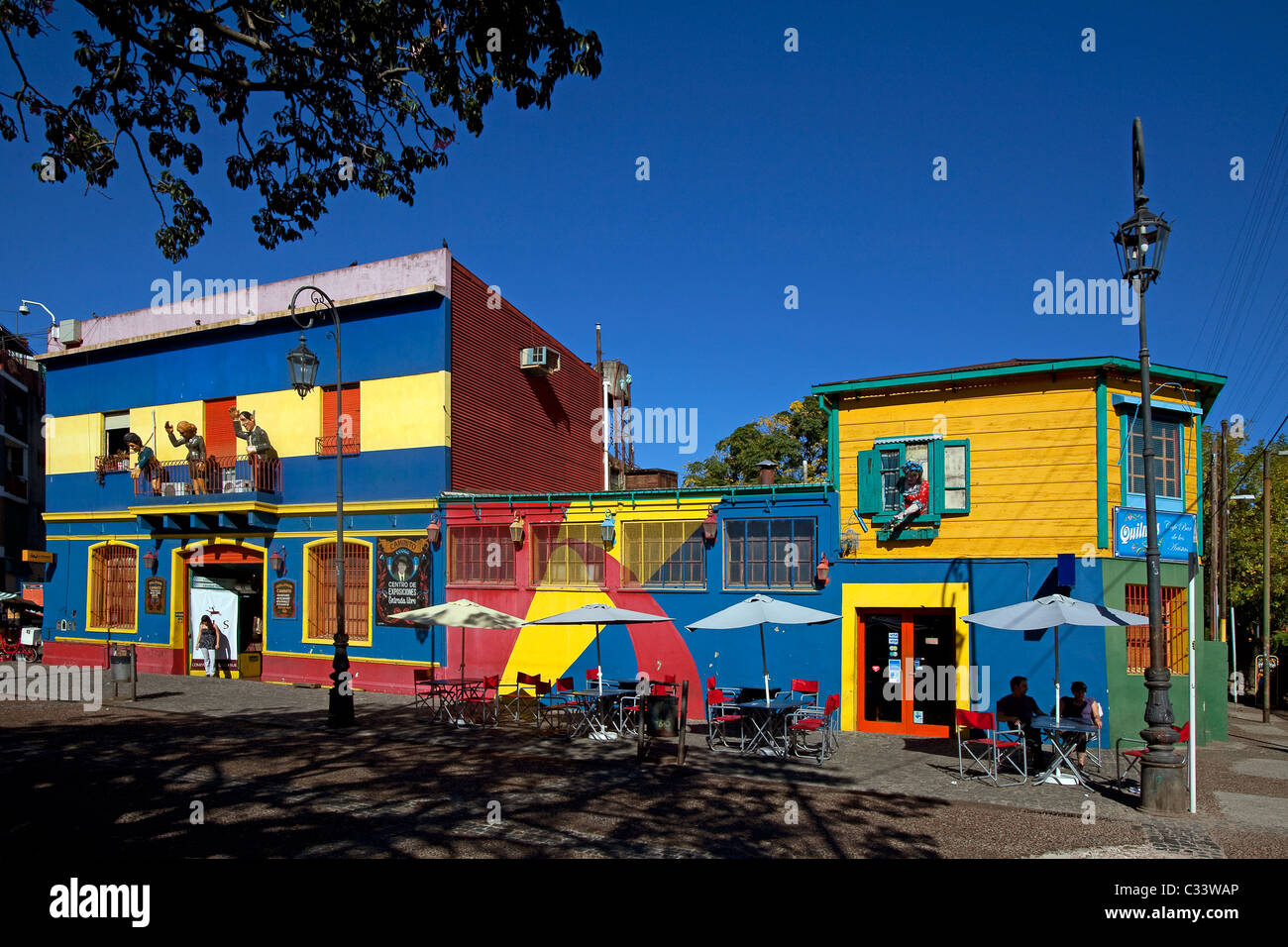 Photography of Caminito Street-Museum, Buenos Aires, Argentina. Stock Photo