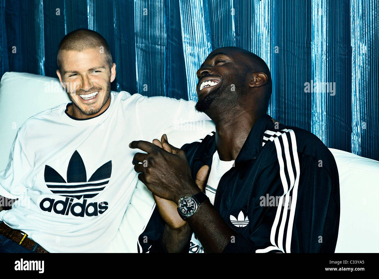 Alegaciones melón Oblicuo  David Beckham and Kevin Garnett appear on the latest adidas Originals Stock  Photo - Alamy