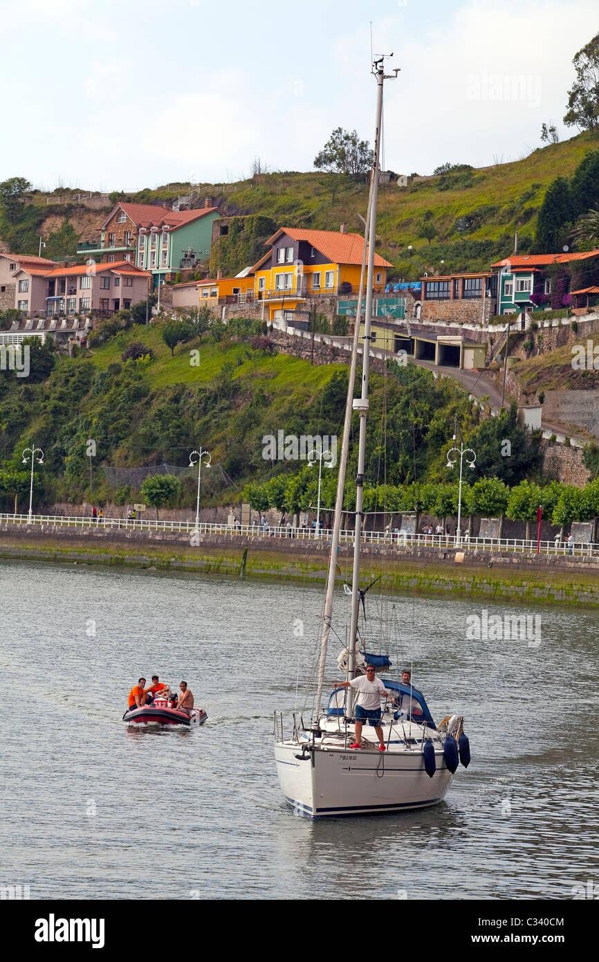Port of Ribadesella, Asturias. Stock Photo