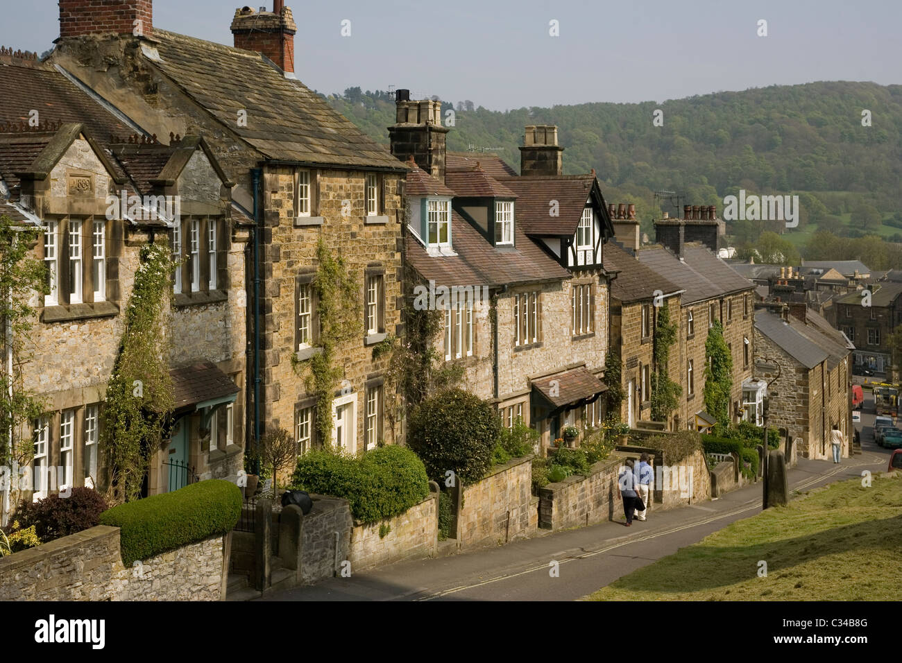 England Derbyshire Bakewell North church street - Stock Image