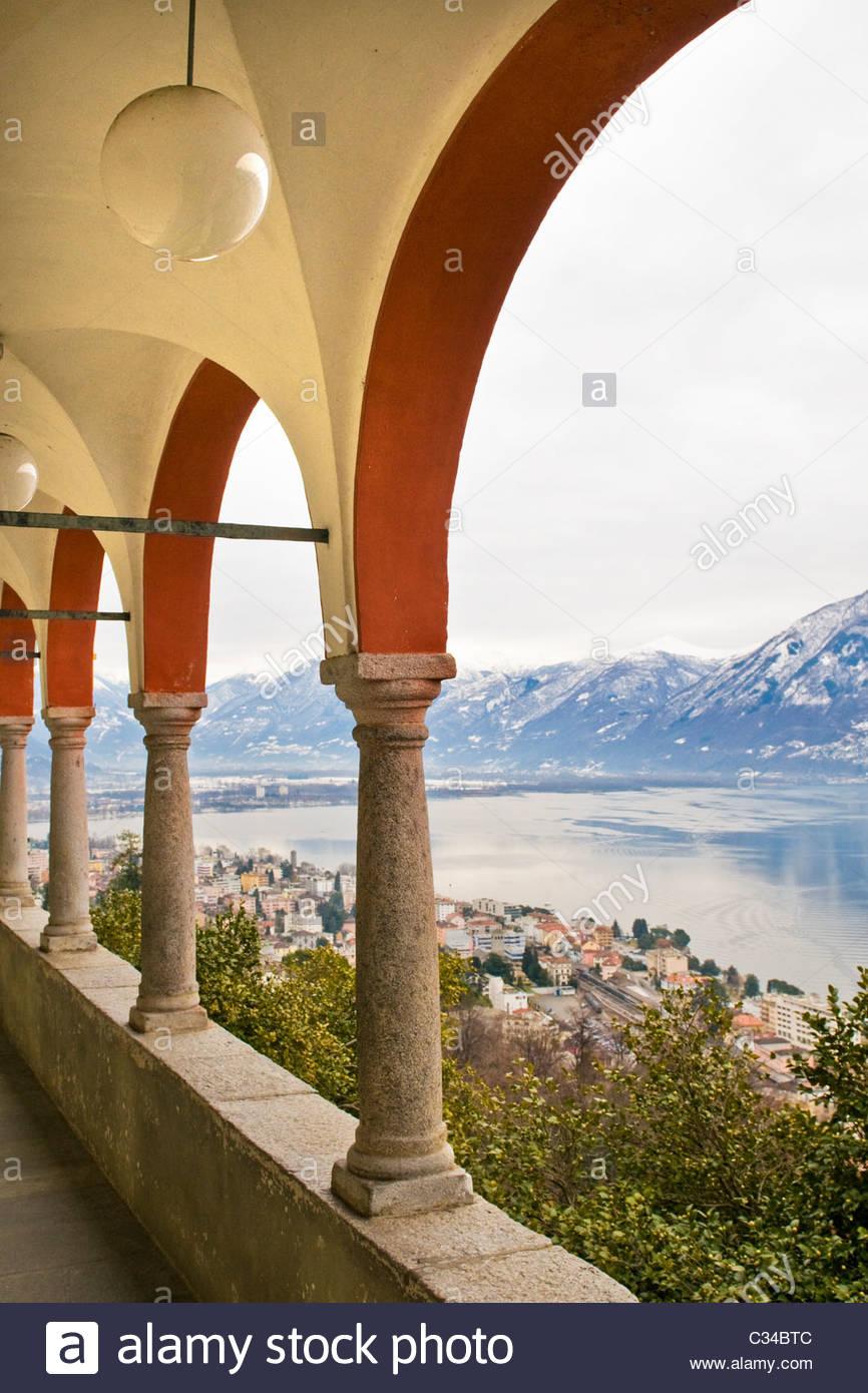 Madonna del Sasso, Locarno, Canton Ticino, Switzerland Stock Photo
