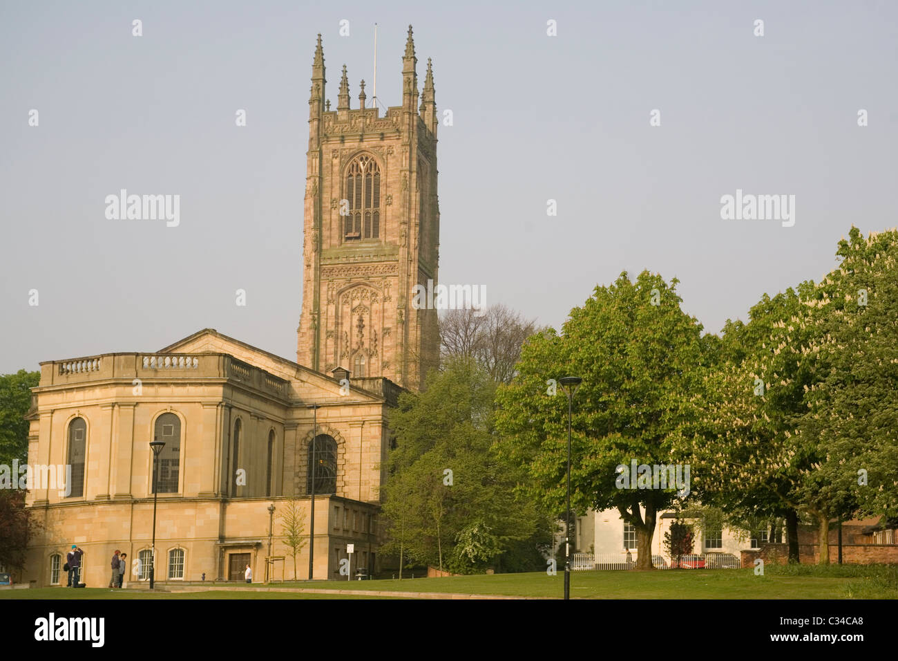 England Derby cathedral - Stock Image