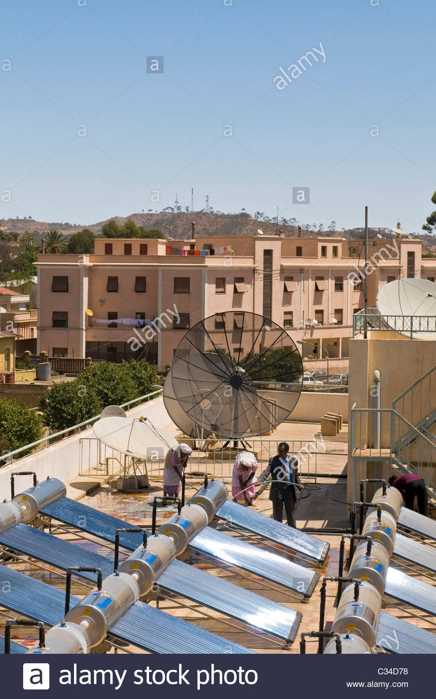 Solar panels, Asmara, Eritrea - Stock Image