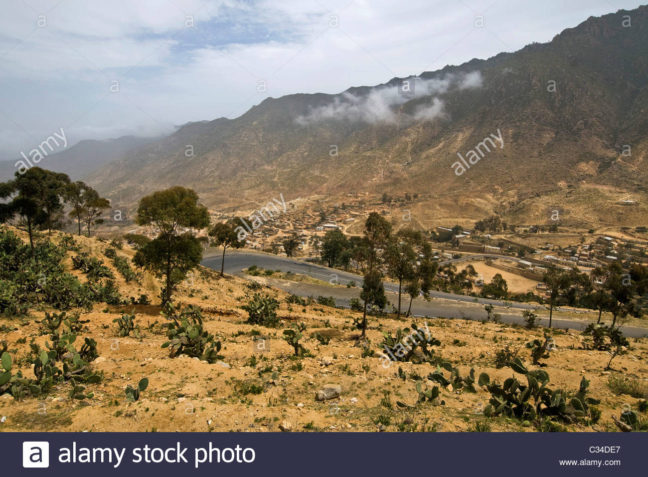 Landscape, surrounding of Nefasit, Eritrea Stock Photo