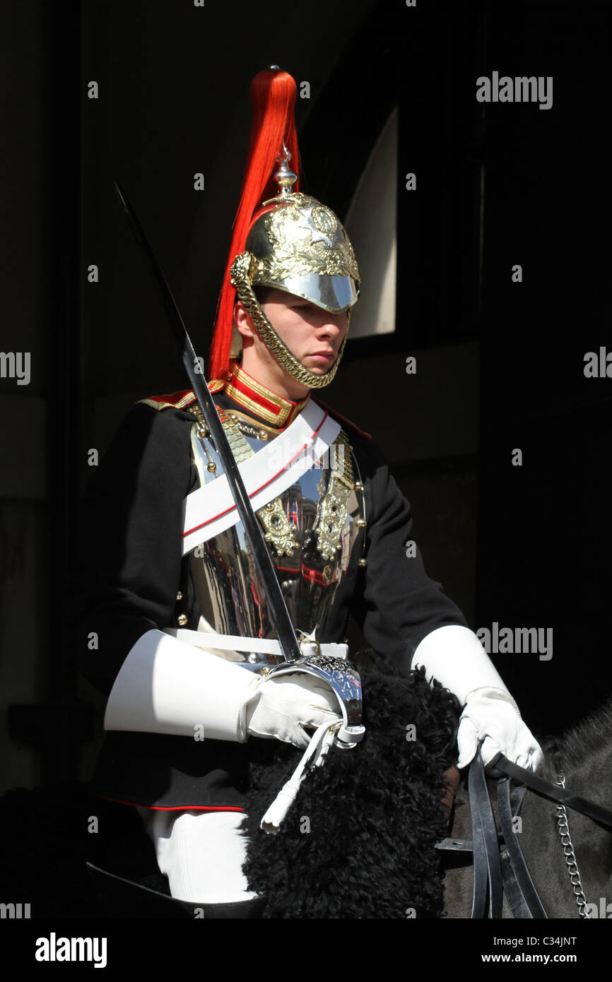 Royal Cavalry rehearsing for Royal Wedding in London UK Stock Photo