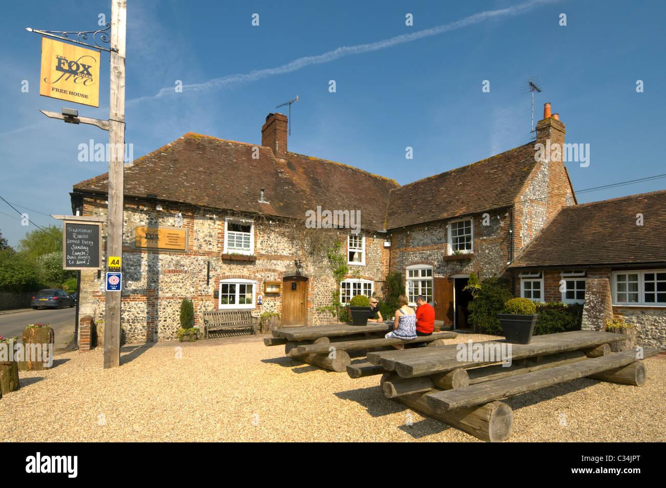 The Fox goes Free Pub Singleton West Sussex UK - Stock Image